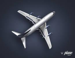 plane free psd file by LeMex