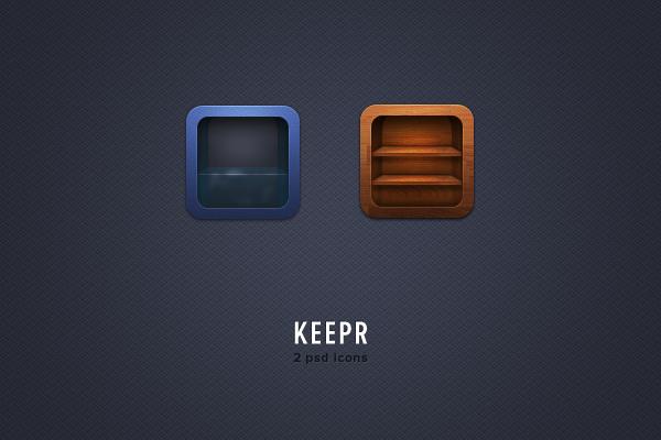 keepr free psd icons