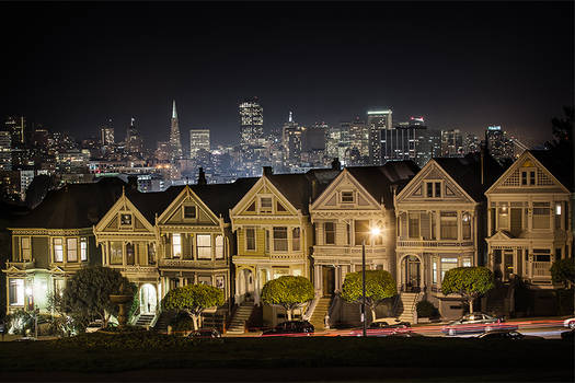 Old Painted Ladies on a non foggy night