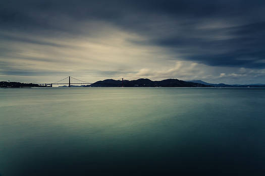 SF bay area on a gray day