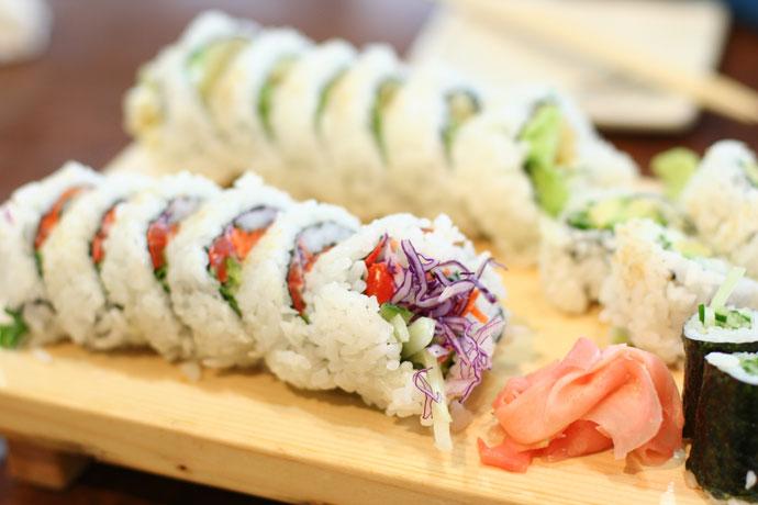 Vegetarian sushi by sushi-counter