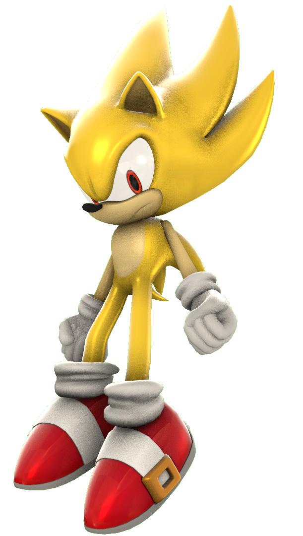 Sonic unleashed super sonic render by nikfan01 on deviantart - Super sonic 6 ...