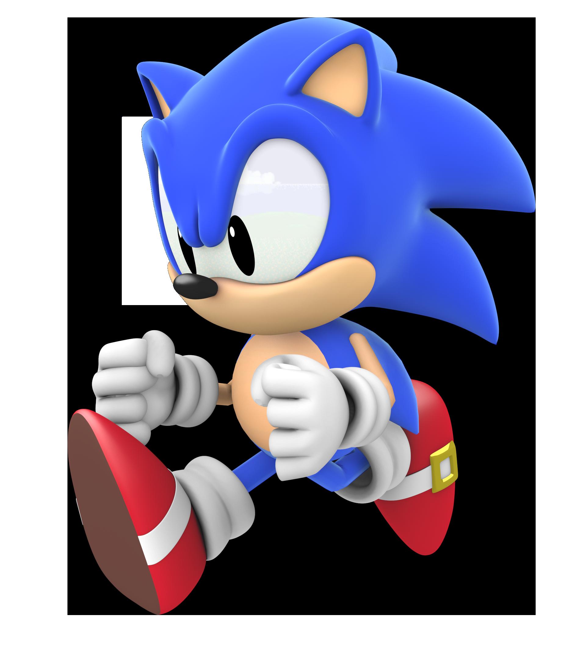 Classic Cgi Sonic Running By Nikfan01 On Deviantart