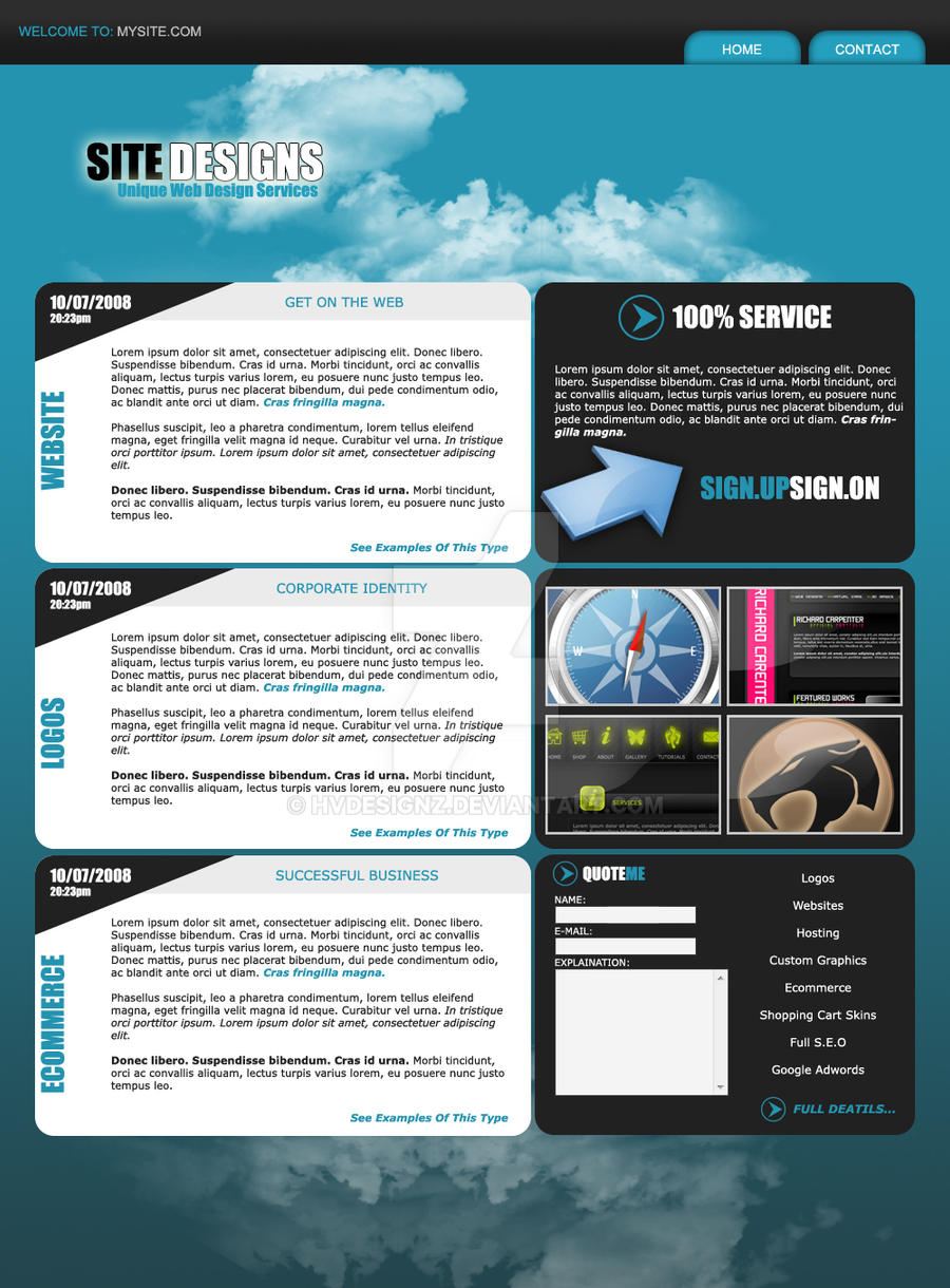 web design layout by hvdesignz