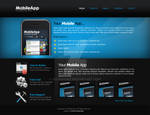 Mobile App Web Layout