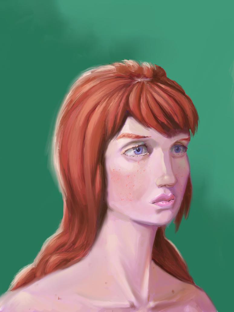 Digital Portrait practice by Sucao