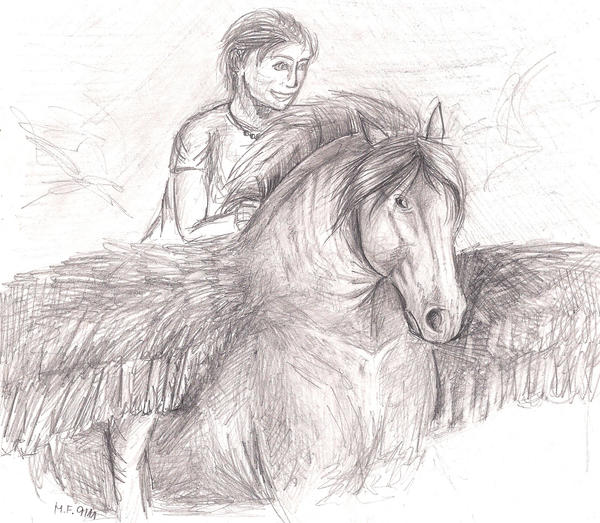 Percy Jackson on Blackjack by Samira121 on DeviantArt