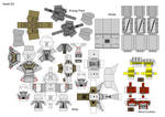 Front Mission - paper model Kasel (parts2/4)