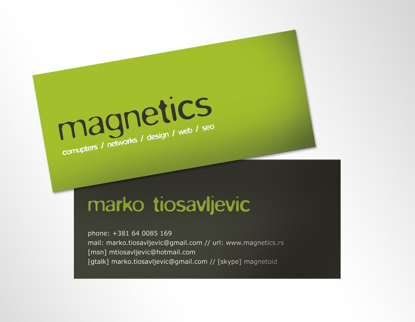 Magnetics industries Bcards by nerro