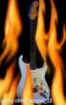 Strat on fire
