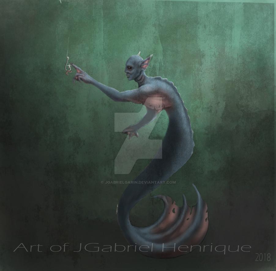 Curious Merman by jgabrielgarin