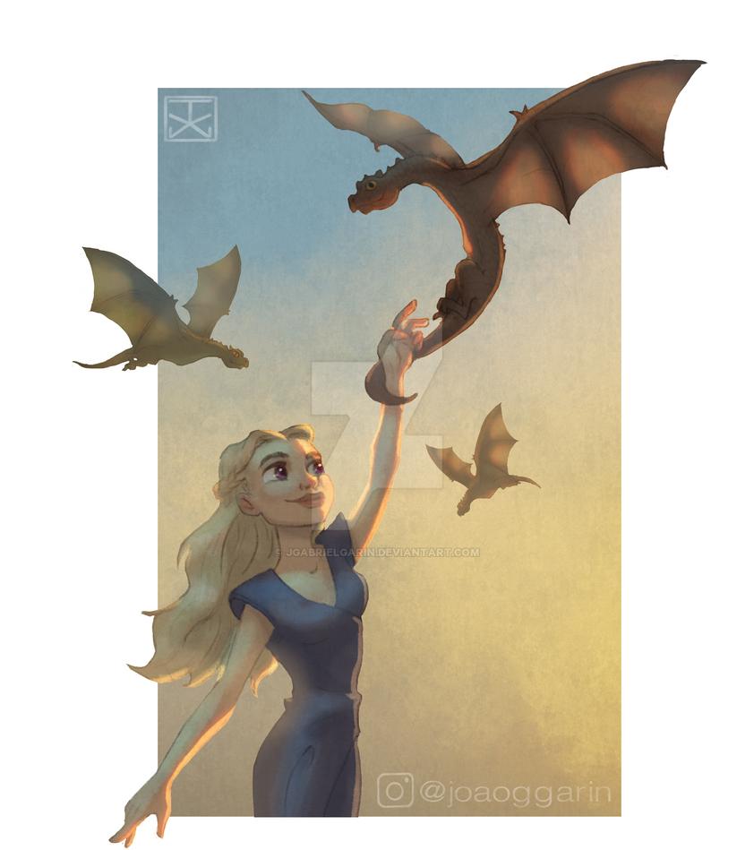 Daenerys Fanart Cartoon by jgabrielgarin
