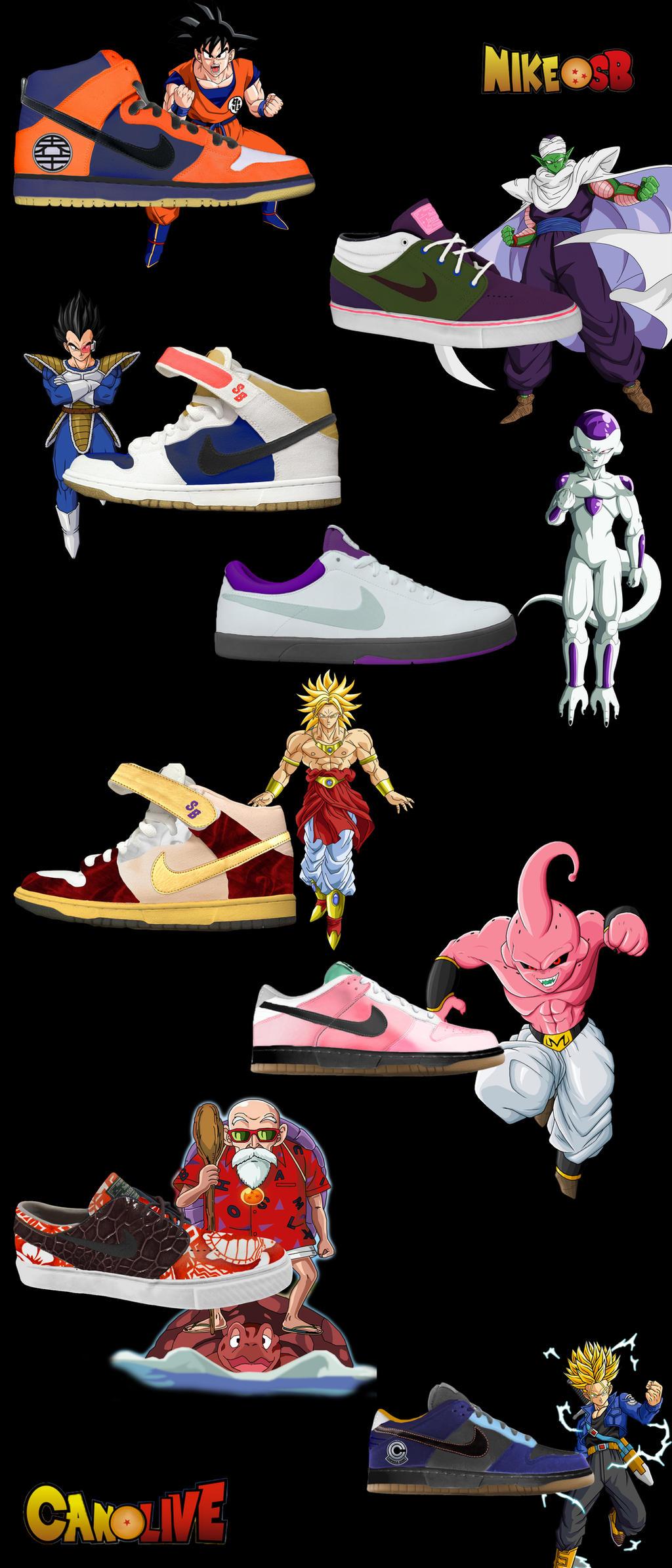 semestre Basura El uno al otro  DragonBall Z Custom Nike SB Footwear by Can1Live on DeviantArt