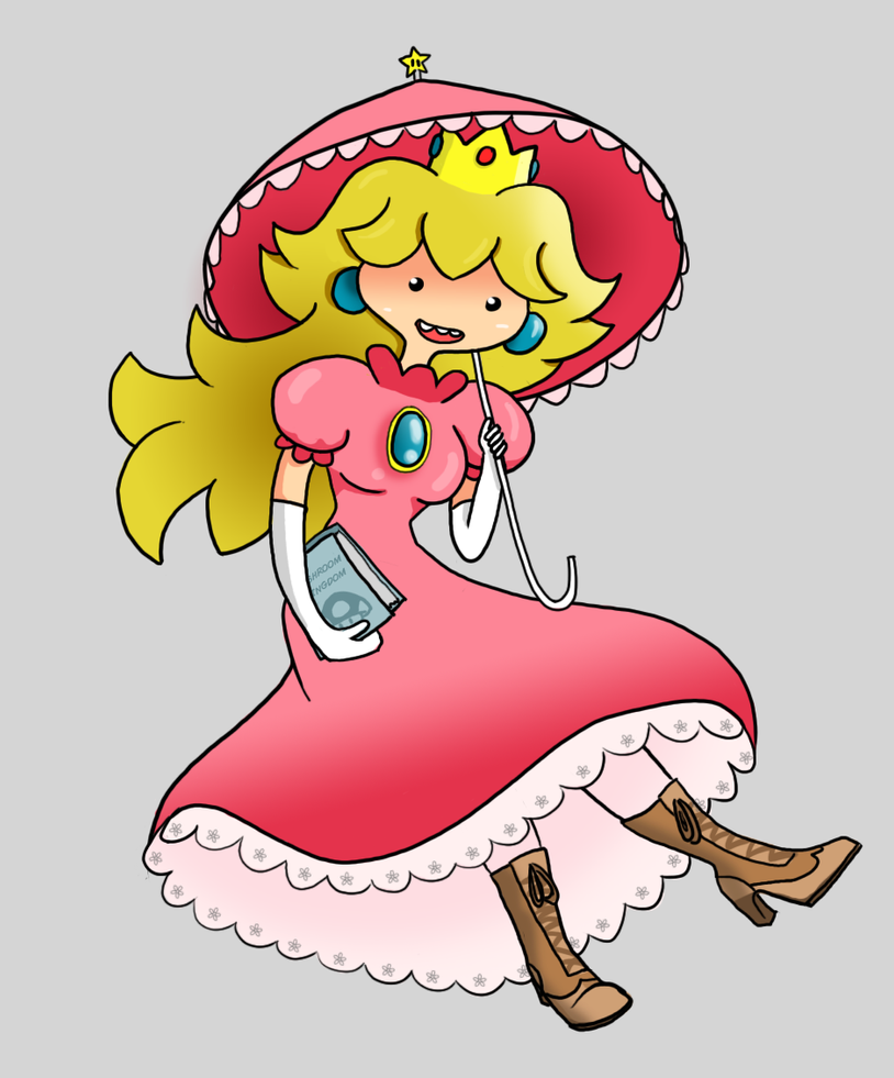 Princess Peach Adventure Time Style by Miss-Licorice