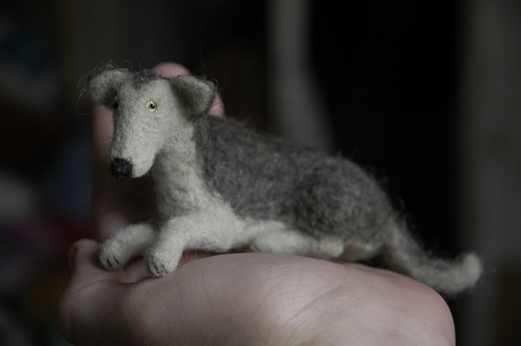felted dog by vriad-lee