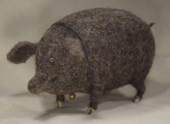brown pig by vriad-lee