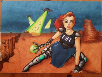 Dana Scully hybrid! by CharliesPawsomeArt