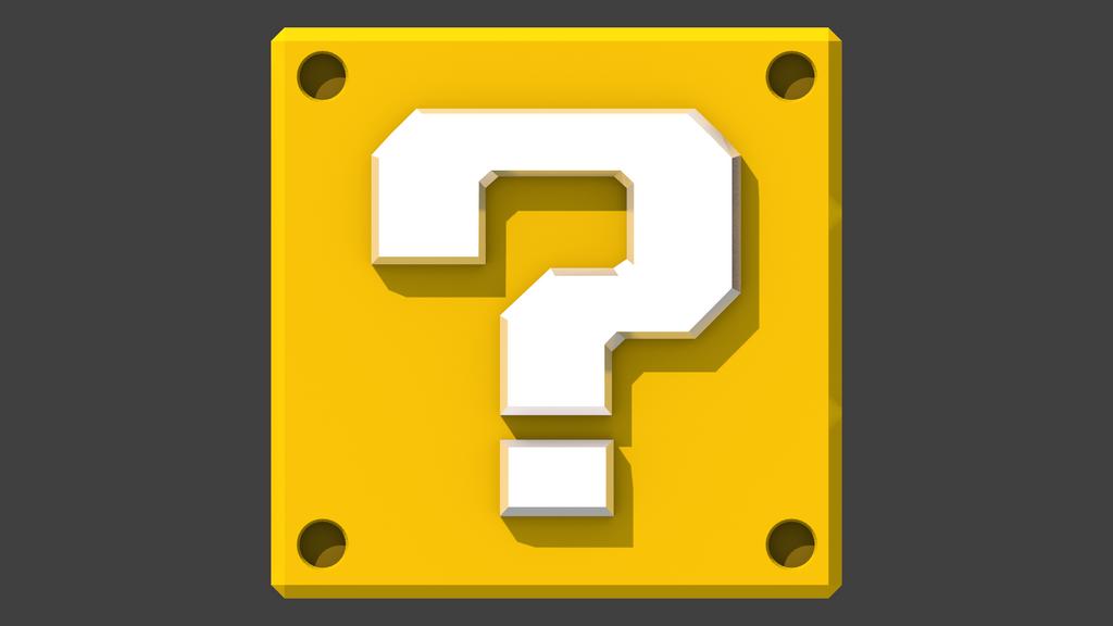 8 Bit Mario question block lamp  8 Bit Mario