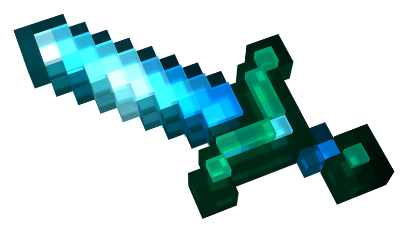 Minecraft Diamond Sword CG Render by LanceBeryl on DeviantArt