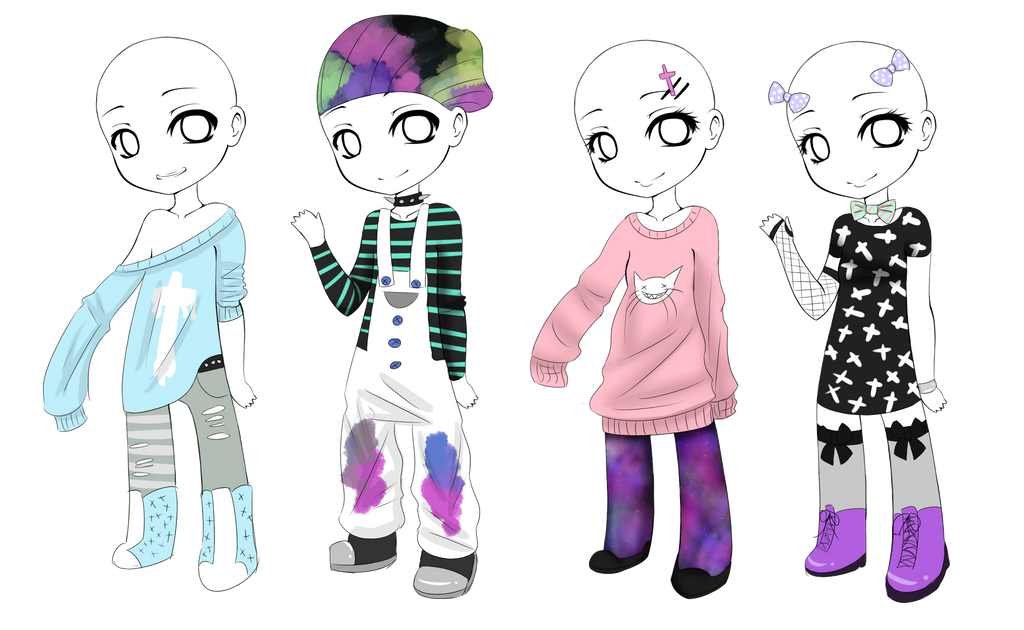 Pastel goth Outfits OPEN [3/4] by Ruuma on DeviantArt