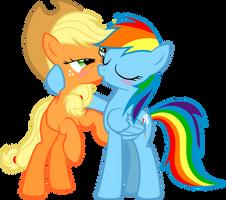 Dashie Immortalizes Applejack by NikkiKitty44