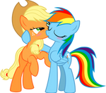 Dashie Immortalizes Applejack