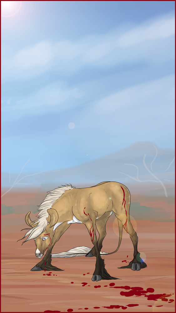 Confrontation by mule-deer