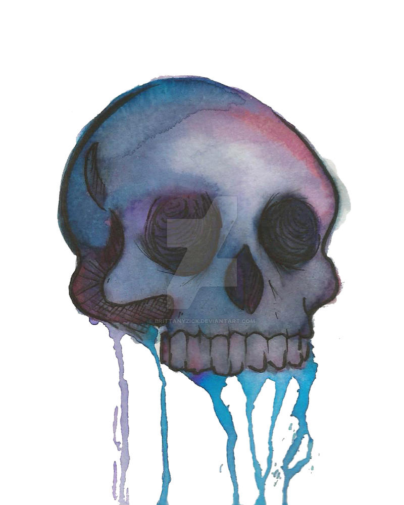 Drip Skull 8x10 by brittanyzick