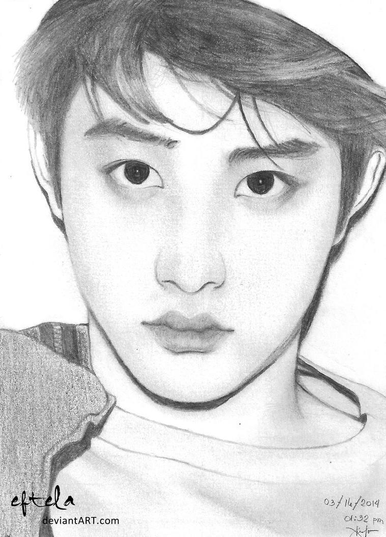 Exo Anime Sketch 28 Images Sehun Fanart Gif Do