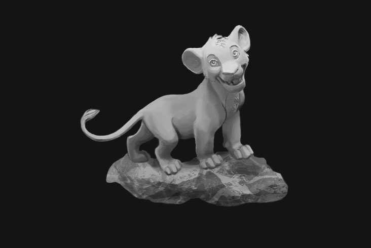 Simba Greyscale by dark-brain
