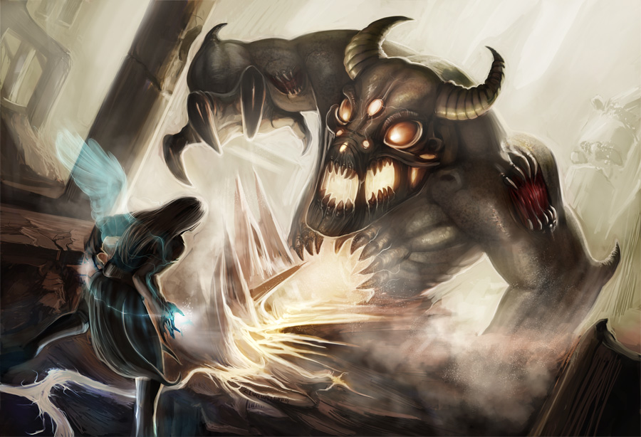 Good vs Evil by PearlPhoenix