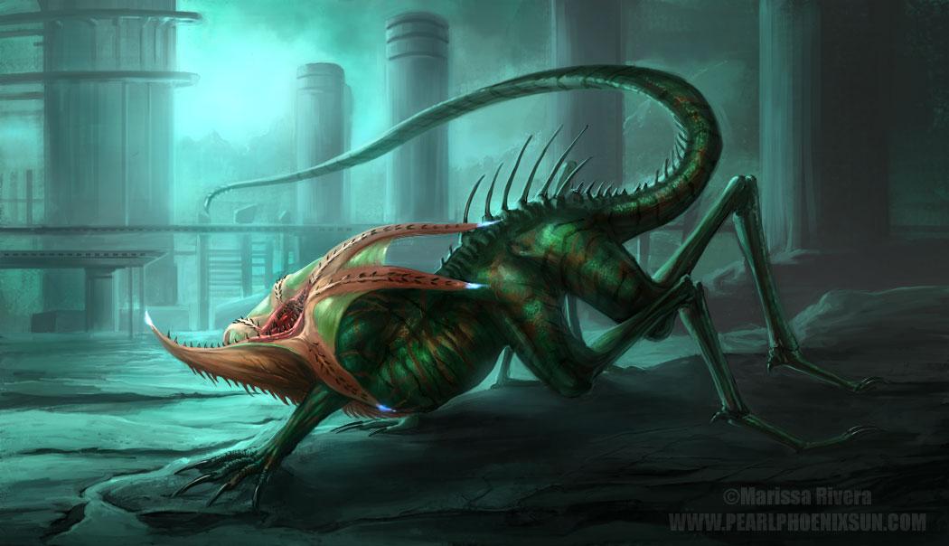 SPLICE creature by PearlPhoenix