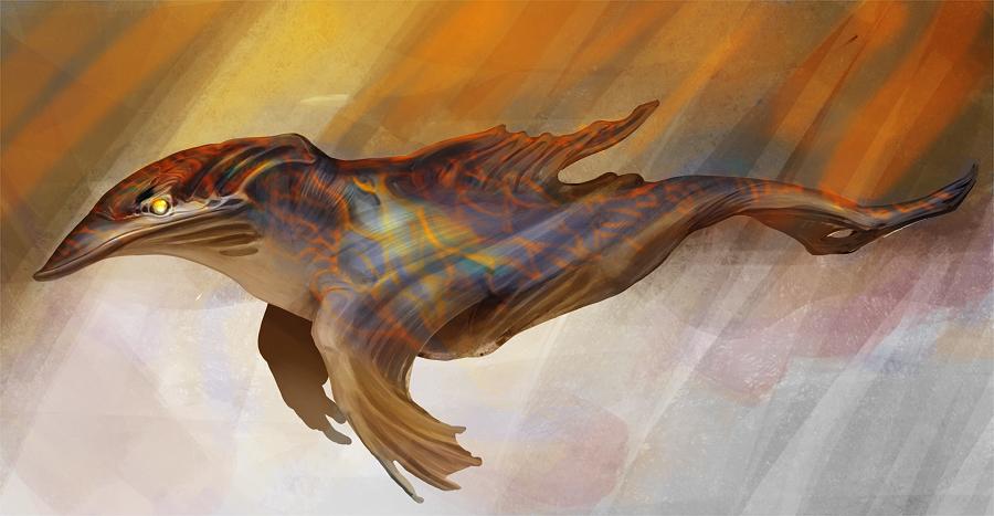 Alien dolphin by PearlPhoenix