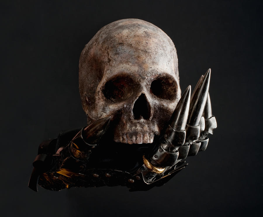 Glove of Sauron and skull 1a