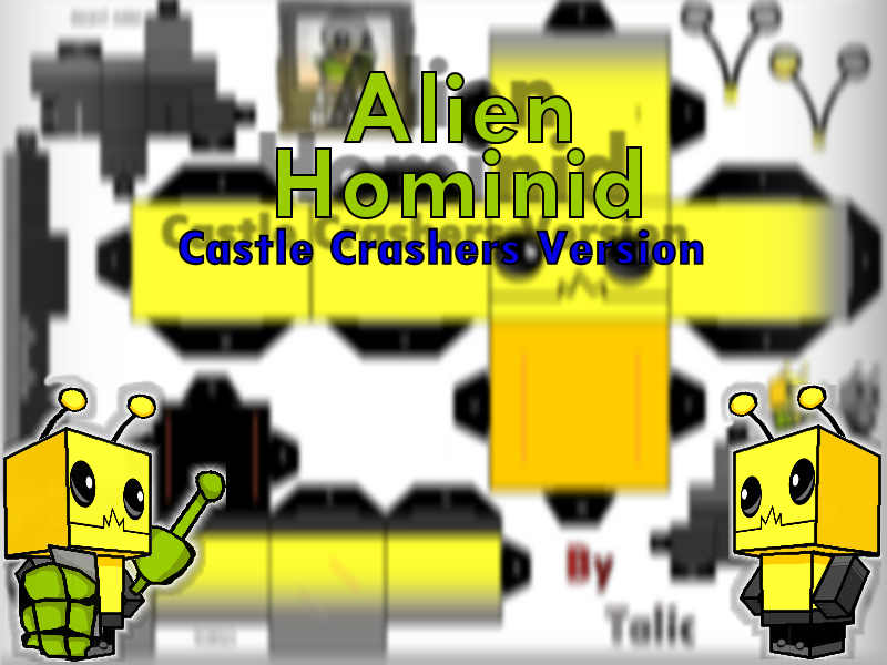 Castle Crashers-Alien Hominid by talic017