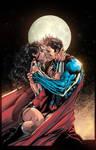 Superman Wonder Woman The Kiss by JUANCAQUE