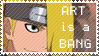 Deidara Stamp - ART is a BANG by Bhamuz02