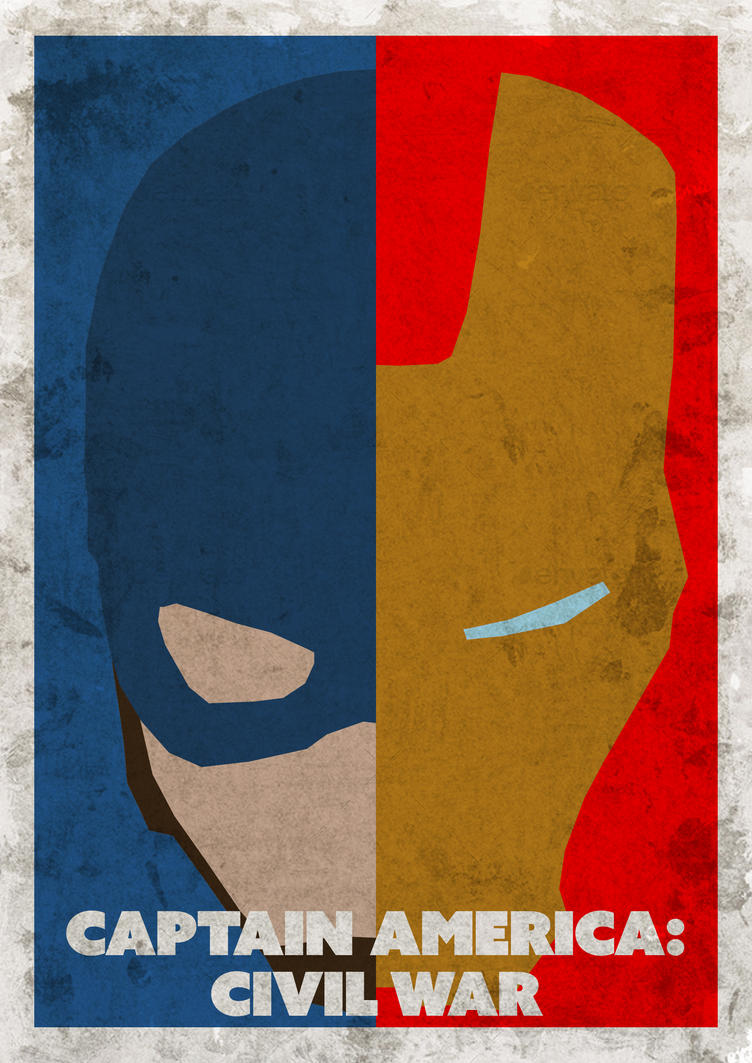 Captain America Civil War - Minimalist Poster by AtomicScratch