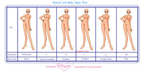 Body Types and Breast Sizes Base