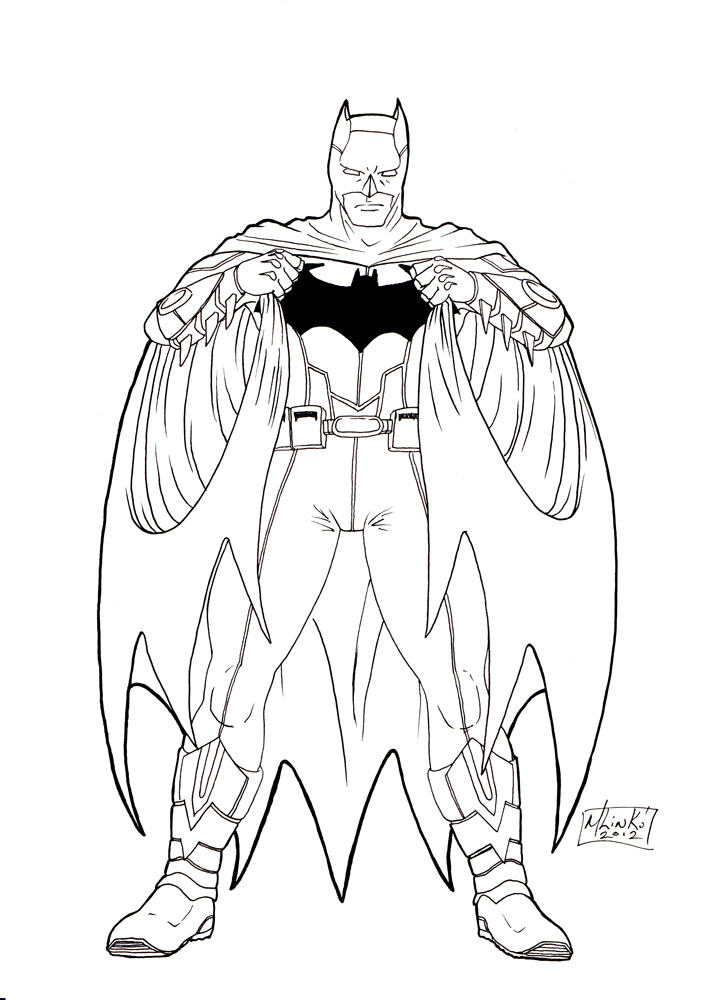 Batman New 52 Coloring Pages
