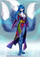 Kitsune 3 tails by playfurry