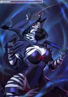 Zebra Halloween by playfurry
