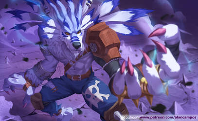 Weregarurumon by playfurry
