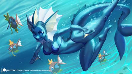 Vaporeon by playfurry