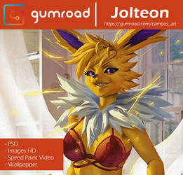 Jolteon - Gumroad by playfurry