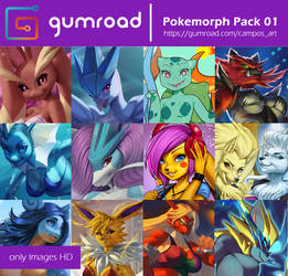 Pokemorph Pack 01 by playfurry