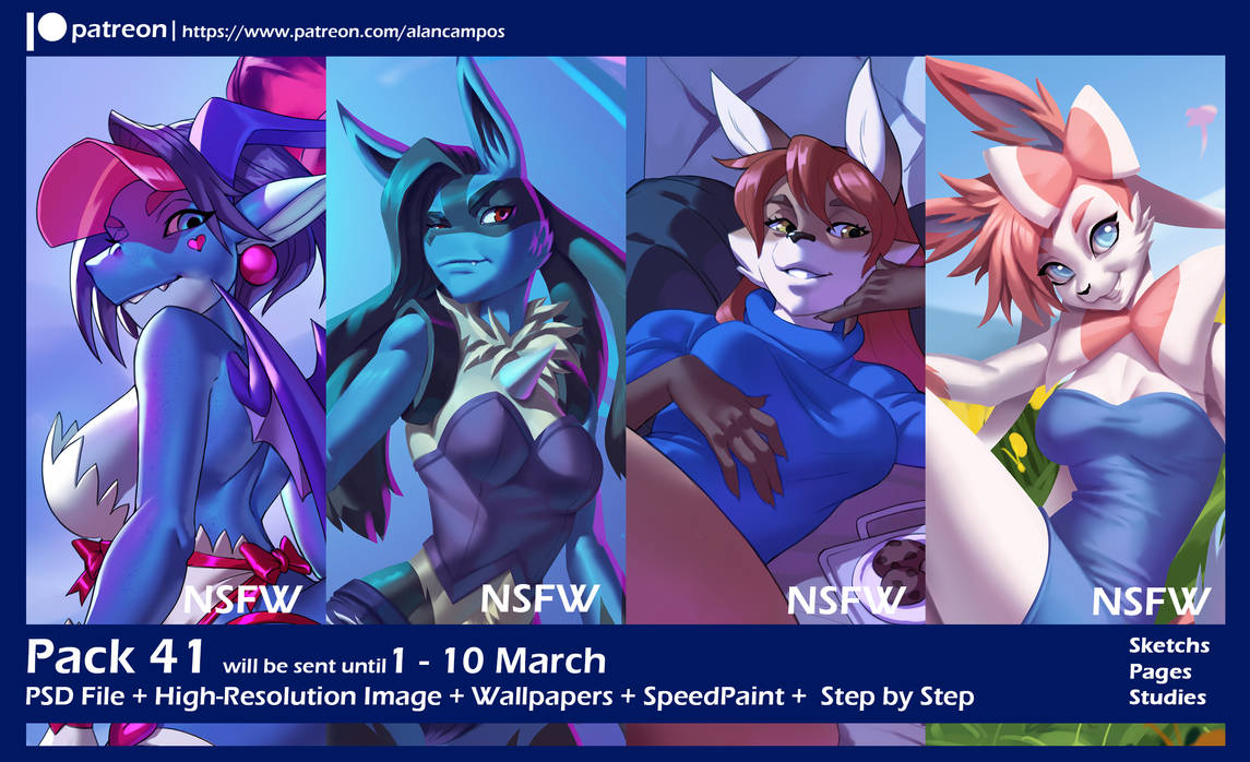 Pack 41 Patreon by playfurry