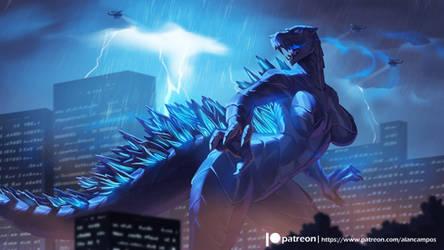 Godzilla by playfurry