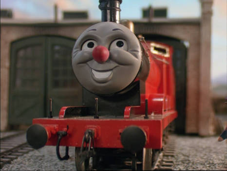 James was happy with his red nose