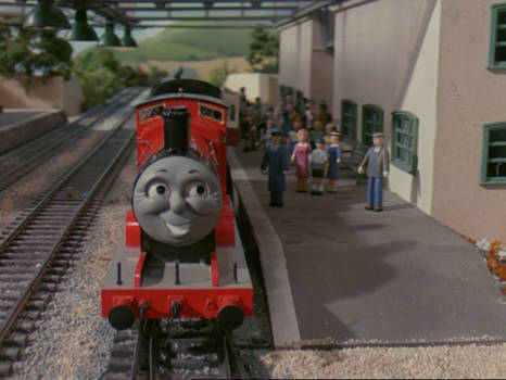 James collected his train at Tidmouth station